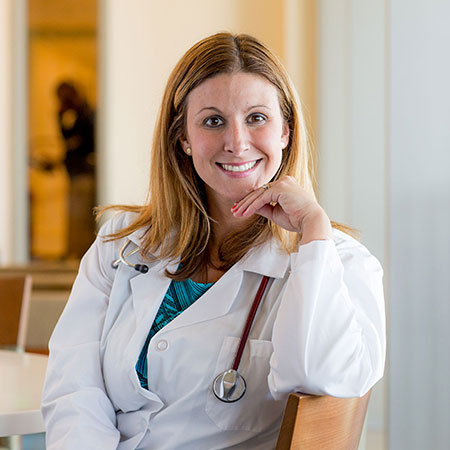 Woman doctor smiling
