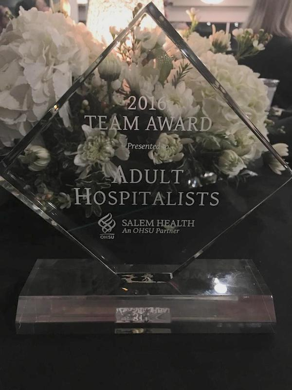 patient experience award for hospitalist team