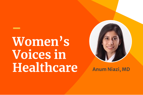 Dr. Anum Niazi represents women in healthcare.